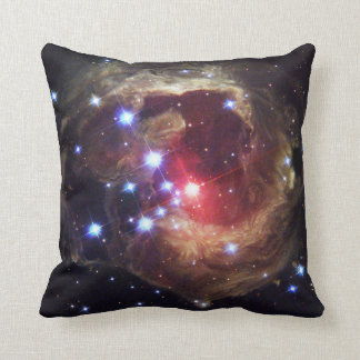 Light Echoes From Red Supergiant Star V838 Monocer Throw Pillow