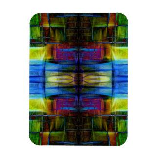Light-Effect Sci-Fi Abstract Rectangular Photo Magnet