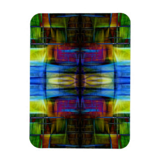 Light-Effect Sci-Fi Abstract Rectangle Magnets