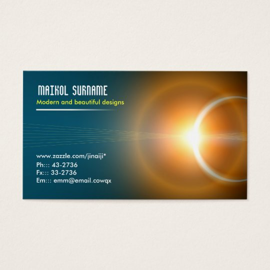 light elegant business card