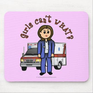Light EMT Paramedic Girl Mousepad