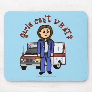 Light EMT Paramedic Girl Mousepads