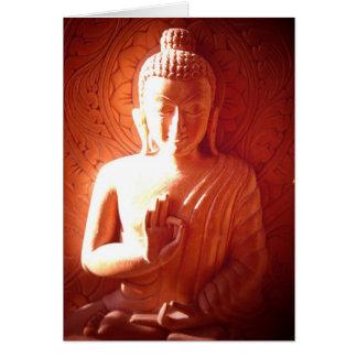 Light falling on Buddha Card