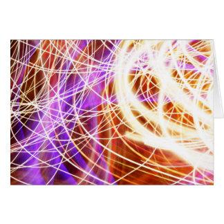 Light fantastic - light painting greetings card