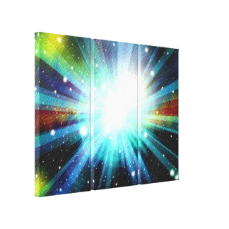 Light Fantasy Galaxy Art Design Abstract Stretched Canvas Prints