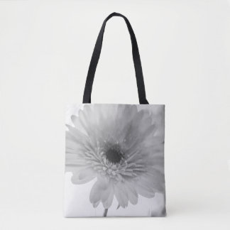 Light Feelings Monochrome Gerber Daisy Tote