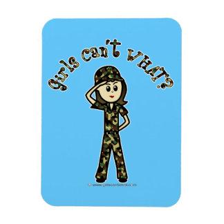 Light Female Army Girl Magnet
