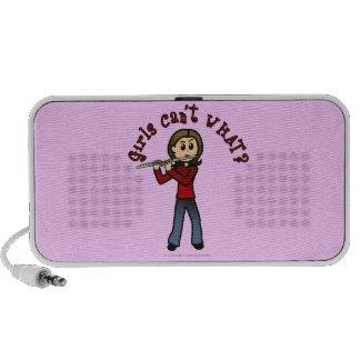 Light Female Flute Player iPod Speaker