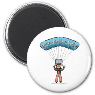 Light Female Sky Diver 6 Cm Round Magnet