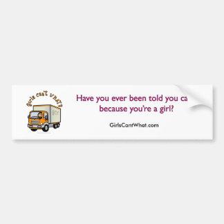 Light Female Truck Driver Car Bumper Sticker