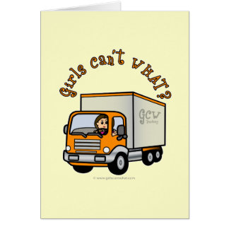 Light Female Truck Driver Card