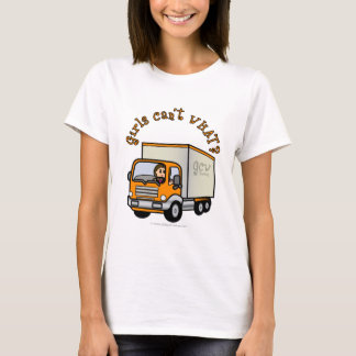 Light Female Truck Driver T-Shirt
