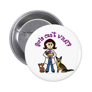 Light Female Veterinarian Pinback Buttons