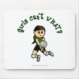 Light Female Volleyball Player in Green Uniform Mouse Mat