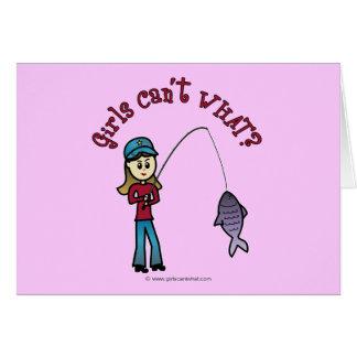 Light Fishing Girl Card