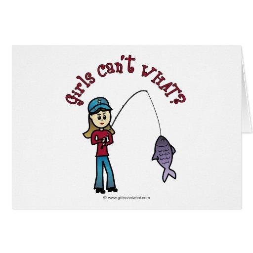 Light Fishing Girl Cards