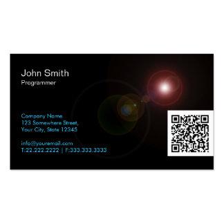 Light Flares QR Programmer Business Card