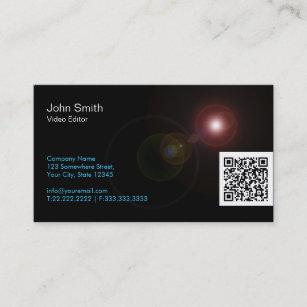 Video editor business cards zazzle uk light flares video editor business card colourmoves