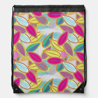 Light Floral Background Drawstring Bag