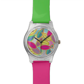 Light Floral Background Watch