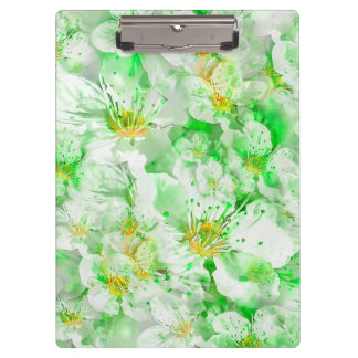 Light Floral Collage Clipboard