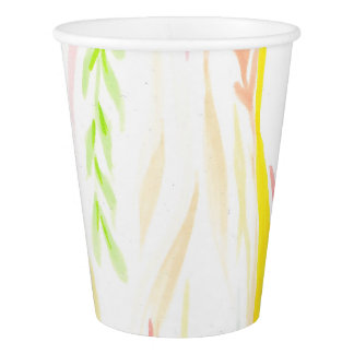 Light Floral Handrawing Cup