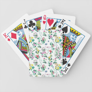 Light Floral Pattern Bicycle Playing Cards