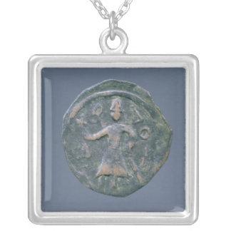 Light follis  of Baldwin II, Count of Edessa Silver Plated Necklace