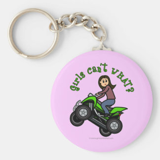 Light Four-Wheeler Basic Round Button Key Ring
