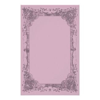 Light Fuschia Romantic French Flourish Stationery