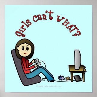 Light Gamer Girl Posters