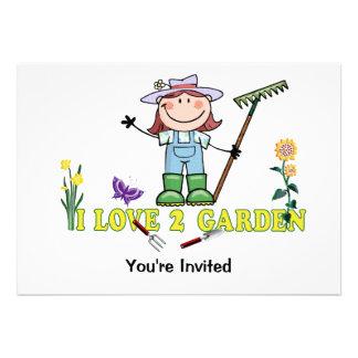 Light  Girl Farmer I Love 2 Garden Invites