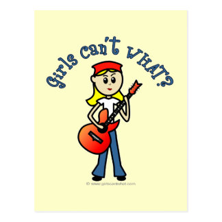 Light Girl Guitar Player Post Card