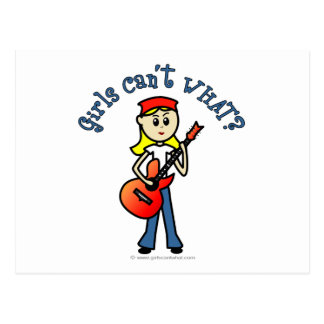 Light Girl Guitar Player Postcard