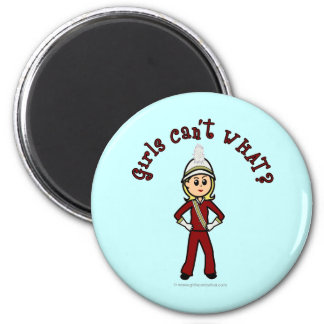 Light Girl in Red Marching Band Uniform Fridge Magnets