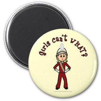 Light Girl in Red Marching Band Uniform Fridge Magnet