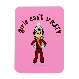 Light Girl in Red Marching Band Uniform Magnet