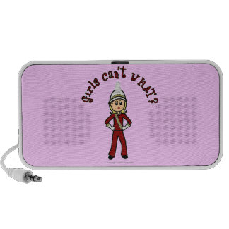 Light Girl in Red Marching Band Uniform Travel Speakers