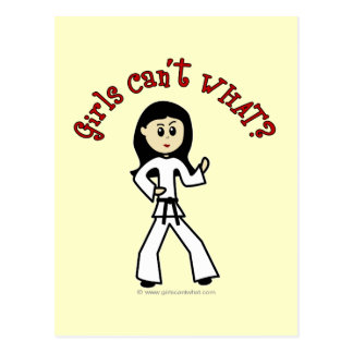 Light Girl Martial Artist Postcard