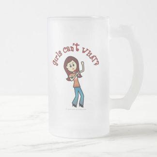 Light Girl Singer Frosted Glass Mug