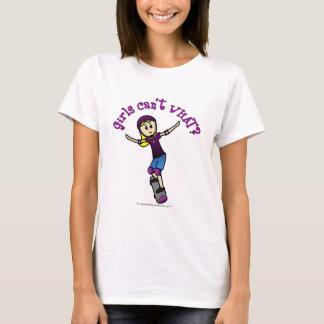 Light Girl Skater with Helmet T-Shirt