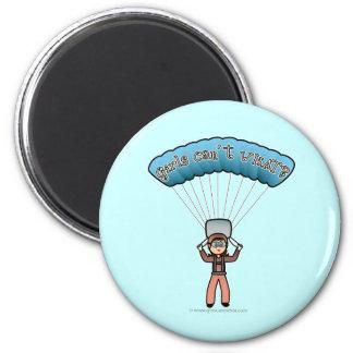 Light Girl Sky Diver 6 Cm Round Magnet