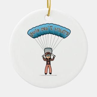 Light Girl Sky Diver Christmas Ornament