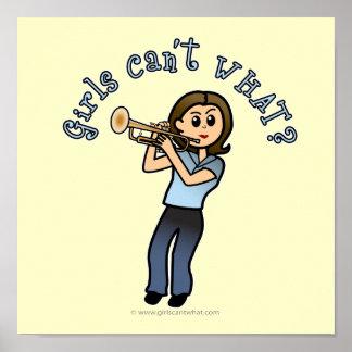 Light Girl Trumpet Player Poster