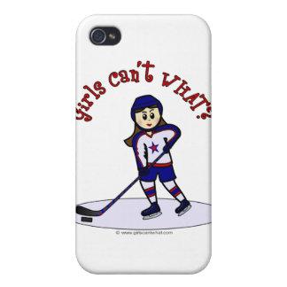 Light Girls Hockey Player iPhone 4/4S Case