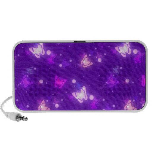 Light Glow Butterflies Violet Purple Design Speakers