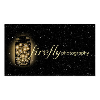 Light Glowing Jar Of Fireflies With Night Stars Pack Of Standard Business Cards