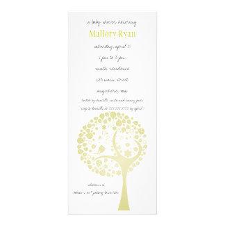 Light Gold Flowering Tree Baby Shower Invitation