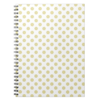 Light Gold Polka Dot Spiral Notebook