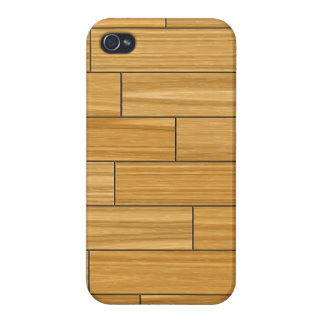 Light Grain Wood Pattern Cover For iPhone 4